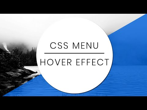 Pure CSS Creative Menu Hover Effect | CSS Hover Effects