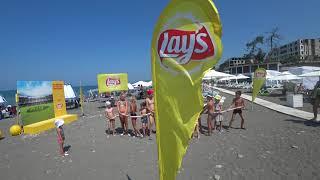 Пляж Ривьера  27 06 2018  Погода в Сочи +30  Отдых в Сочи  Сочи онлайн