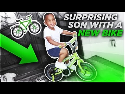 SURPRISING OUR SON DJ WITH HIS DREAM BIKE!!