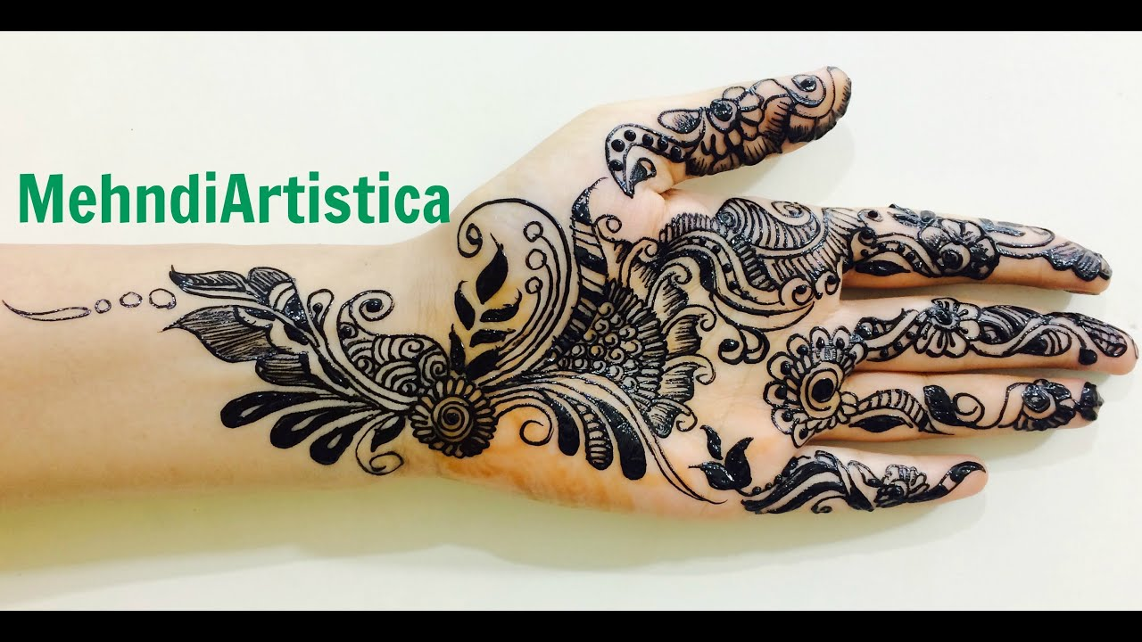Mehndi Henna Black : Easy new style black mehndi designs for hands learn henna