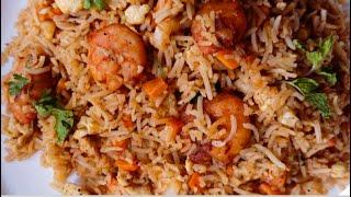 Prawns Fried Rice🍤    Restaurant Style Prawns Fried Rice Recipe    Dishes Corner