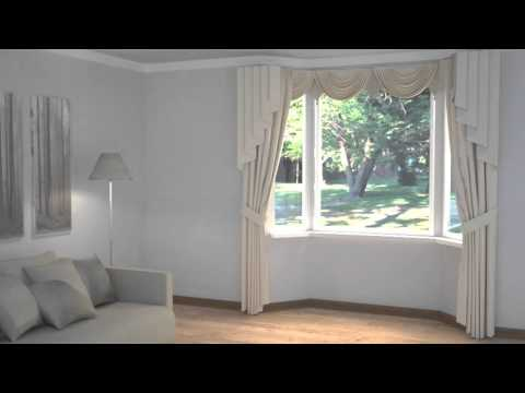 How To Dress Windows Bay With Curtains
