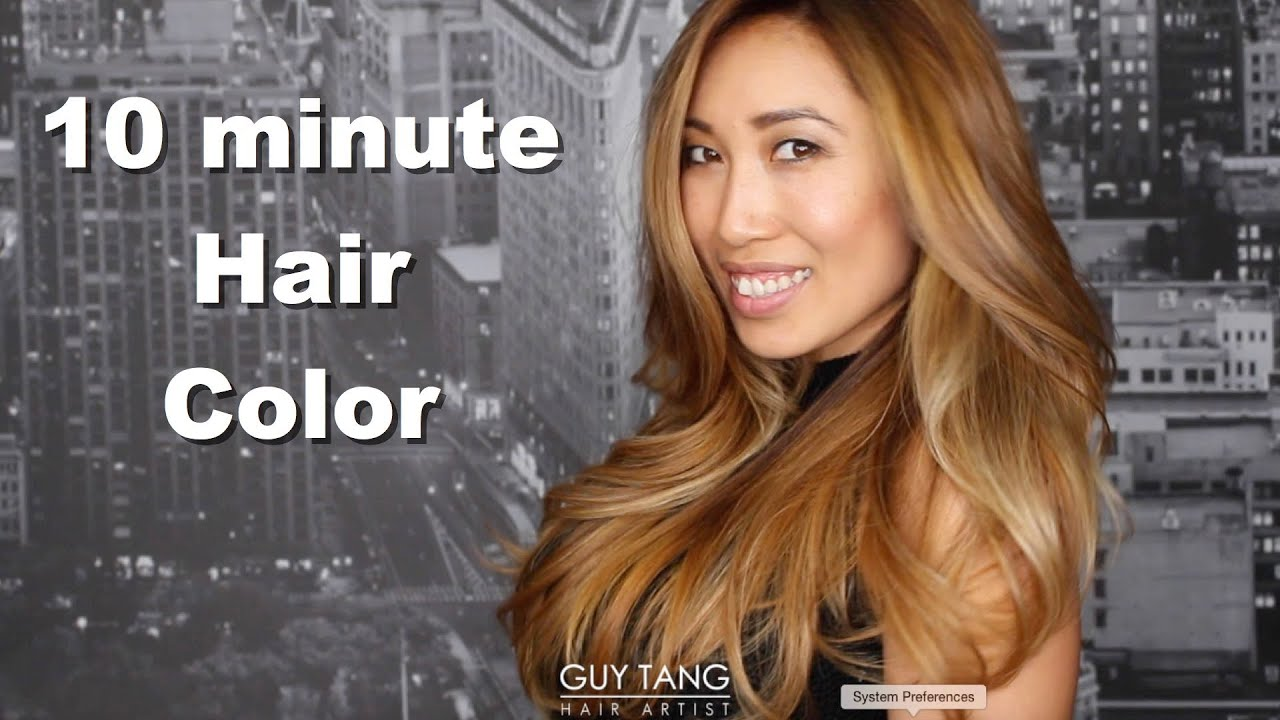 10 Minute Hair Color Youtube