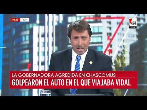 Docentes escracharon a Vidal en Chascomús y golpearon su auto
