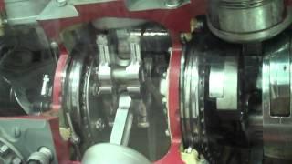 Pratt & Whitney R-4360 28 Cylinder Radial Aircraft Engine Cutaway