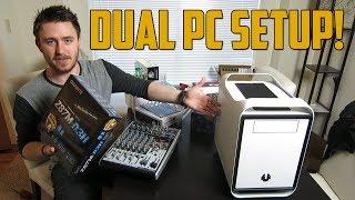 DUAL PC STREAMING SETUP! (Vlog)