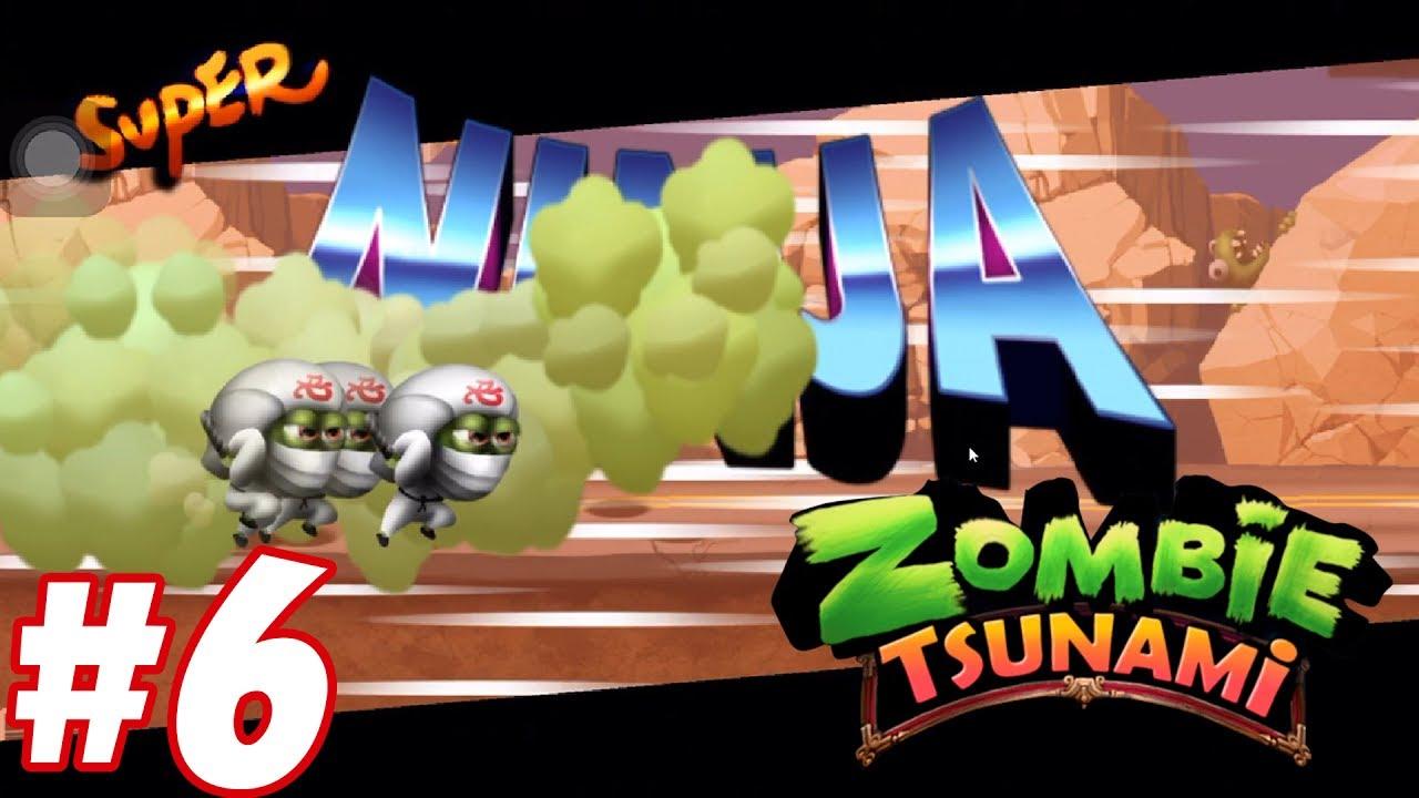Đội quân ma ninja Zombie Tsunami - chơi game kid lồng tiếng vui nhộn funny #5