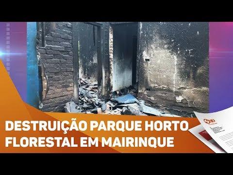 Destruição Parque Horto Florestal em Mairinque - TV SOROCABA/SBT