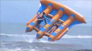 Flying banana boat