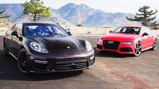 Audi RS 7 и Porsche Panamera Turbo – два роскошных суперкара. Сравнительный тест-драйв [Smotorom]