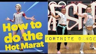 "HOW TO DO ""HOT MARAT DANCE EMOTE"" DANCE TUTORIAL | FORTNITE DANCE TUTORIALS!"
