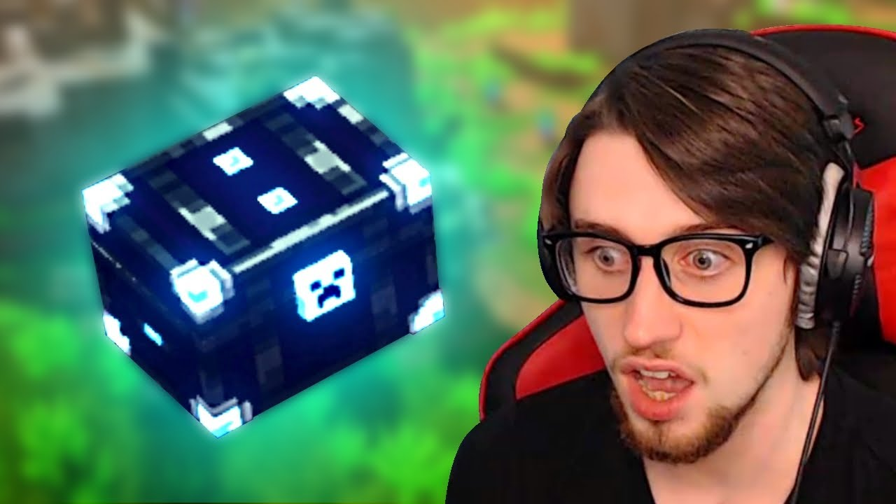 Minecraft Dungeons but I opened 20 Obsidian Chests in 1 video