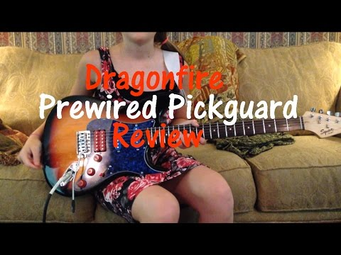 dragonfire pickups wiring diagram gibson eds 1275 install active www toyskids co frankenstrat with loaded pickguard review doovi seymour duncan pickup bass guitar