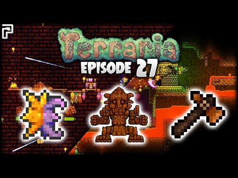 Terraria Lava Flood & Golem Farming!   Python's Realm (Terraria Let's Play) [S2 - Episode 27]