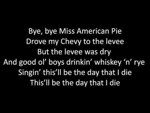 Timeflies - American Pie Lyrics