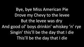 Timeflies - American Pie Lyrics