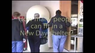 The New Day Tornado Shelter was designed for three adults.