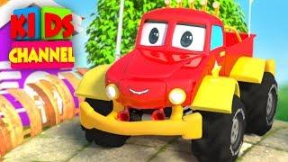 Monster Truck Cartoons for Children by Kids Channel | Cars Videos |  Monster Trucks Tow Truck