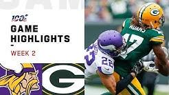 Vikings vs. Packers Week 2 Highlights | NFL 2019