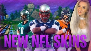 Fortnite - NEW NFL SKINS! 1260+ Solo Wins! Good Console Player. Live Now, Come Chat! :)