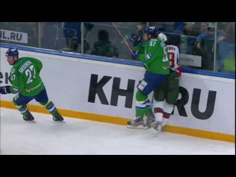 Lukoyanov leaves game after head injury