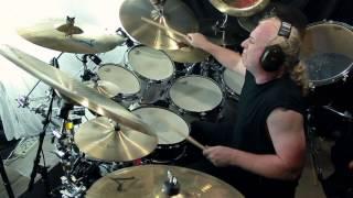 Phil Collins/Genesis drum grooves played by Larry Crowe
