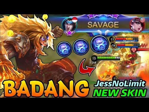 SAVAGE!! Badang Fist of Zen New EPIC Skin by JessNoLimit -  MLBB