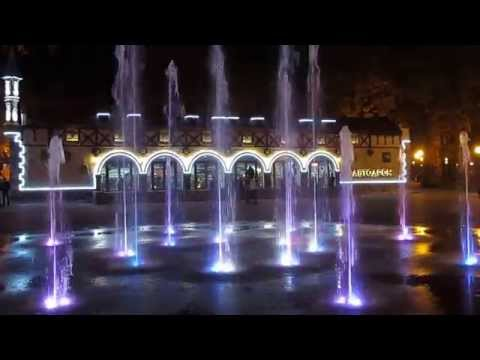 Красивый фонтан в Парке Горького Харьков Beautiful fountain in Gorky Park Kharkov