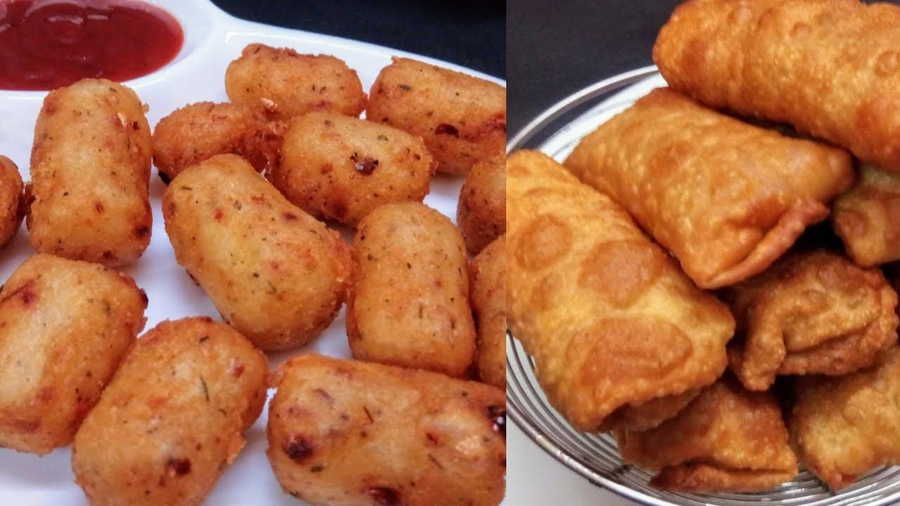క్రిస్పీ గా ఒక్క సారి చేస్తే నెల రోజులు టీనే రెండు రకాల టిఫన్స్ || Crispy Poha Nuggets | Sring Rolls