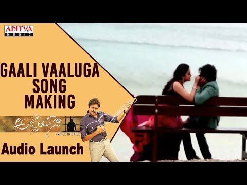 Gaali Vaaluga Song Making @ Agnyaathavaasi Audio Launch | Pawan Kalyan |Trivikram | Anirudh