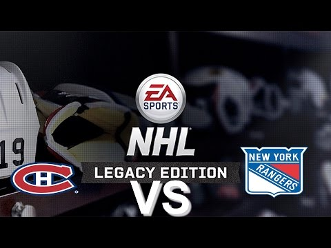 NHL Legacy Edition PS3 Montreal Canadiens VS New York Rangers