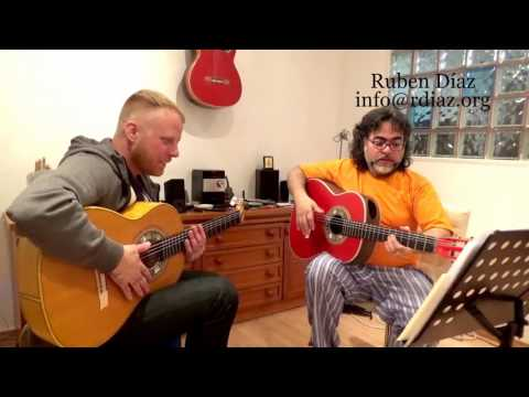 Learning Paco de Lucia´s Alegrias Basic Struming & Rhythm/ Ruben Diaz Flamenco Guitar Lesson Malaga