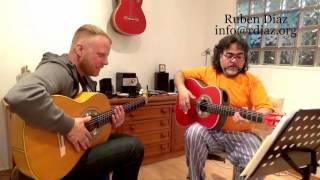 Learning Paco de Lucia´s Alegrias Basic Struming & Rhythm/ Ruben Diaz Flamenco Guitar Lesson Malaga