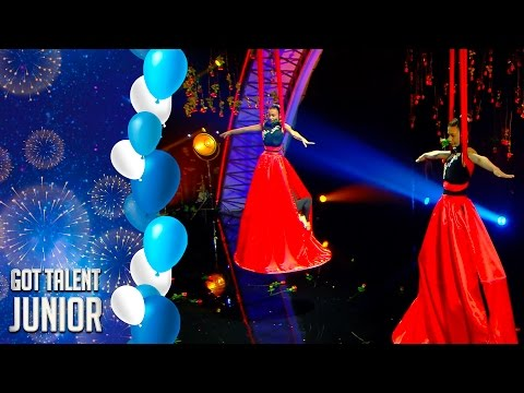 Air MDD, riesgo y belleza a ritmo de tango   Especial Junior   Got Talent España 2017