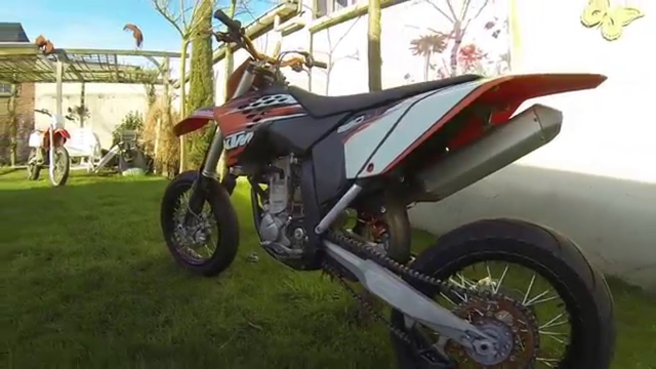 New bike arrival: KTM SX-F 250 supermoto - YouTube