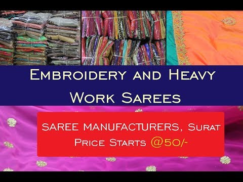 Wholesale work sarees starts from Rs.50/- | Priyam Creations | Saree Manufacturers | Apna Bazzar