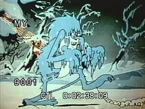 Color Cartoon 1930s - Animated Angry Sun And Weather