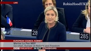 Marine Le Pen and UKIP agree the EU is finished