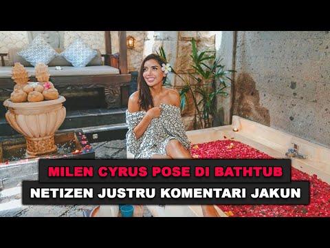 Millen Cyrus Pose Di Bathtub, Netizen Justru Komentari Jakun