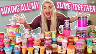 MIXING ALL MY STORE BOUGHT SLIME TOGETHER