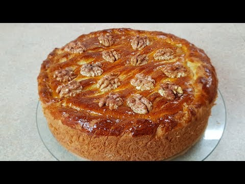 Сдобный пирог как Пасочка, цыганка готовит. Пирог с Халвой и Орехами. Gipsy Cuisine.