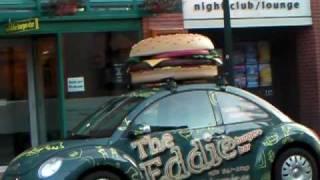 カナダ・バンフで見つけたハンバーガーショップ・エディバーガーのお店...