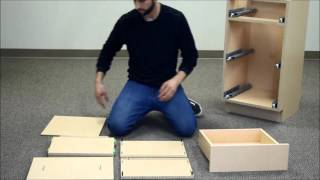 Assemble a base cabinet with 3 drawers in 7 minutes!