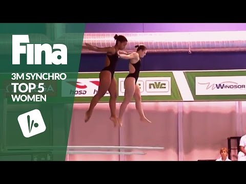 Top 5 - Women's 3m Synchronised | FINA/NVC Diving World Series - Windsor 2017