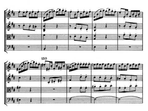 J. Haydn  Cuarteto de cuerda Op  33 nº 1 IV - Presto. Partitura. Audición.