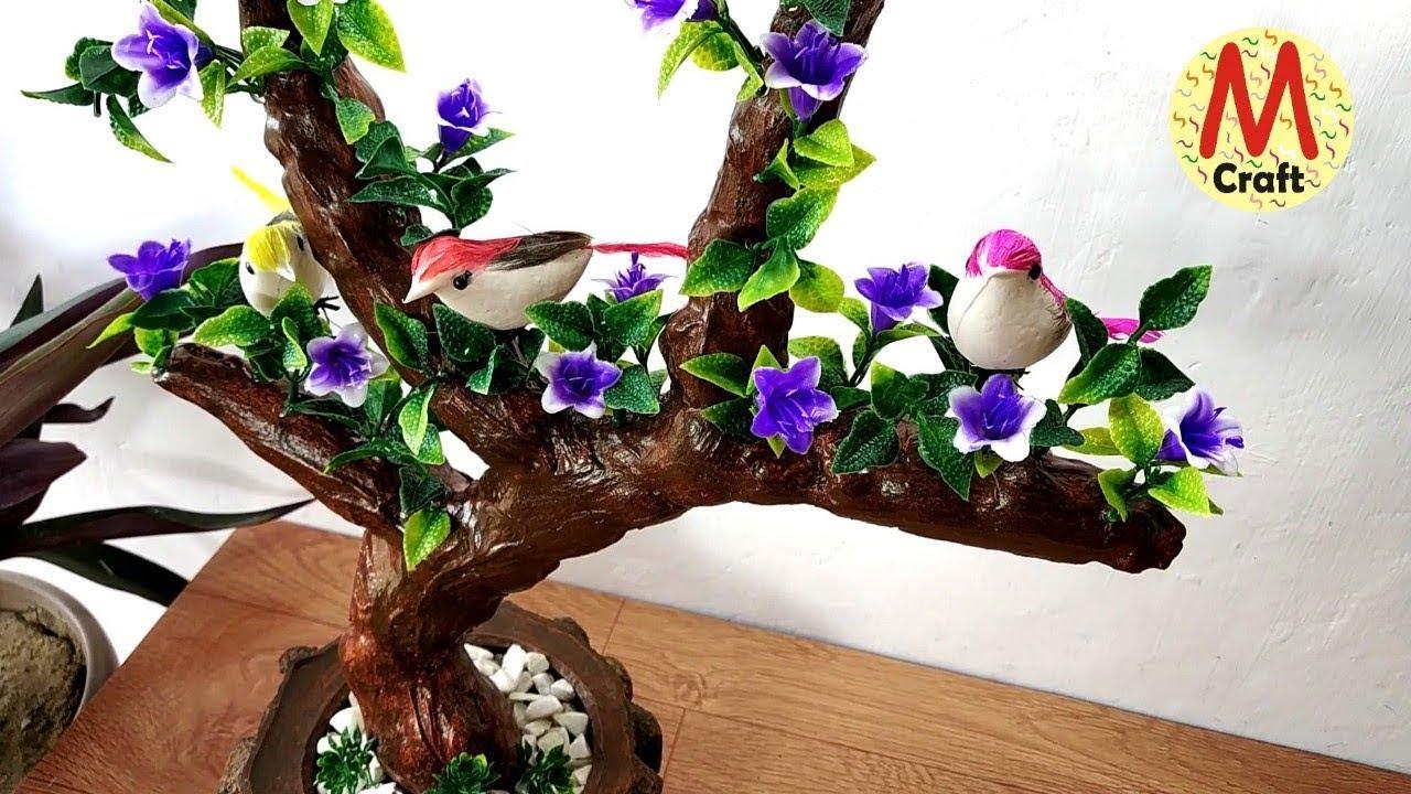 How To Make Beautiful Bonsai Tree Show Piece Youtube