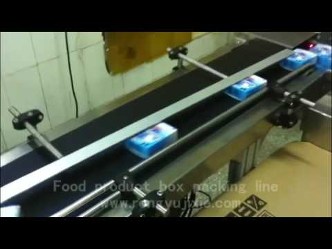 food product buscuit box packaging line