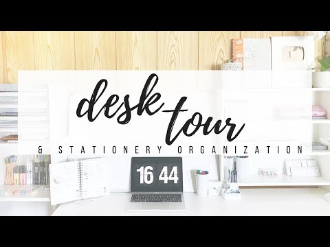 2018 Desk tour + How I organize my stationery | studytee