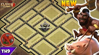 NEW TOWN HALL 9 WAR BASE 2018! TH9 ANTI 3 WAR BASE WITH REPLAYS(WALL WRECKER)!! -CLASH OF CLANS(COC)