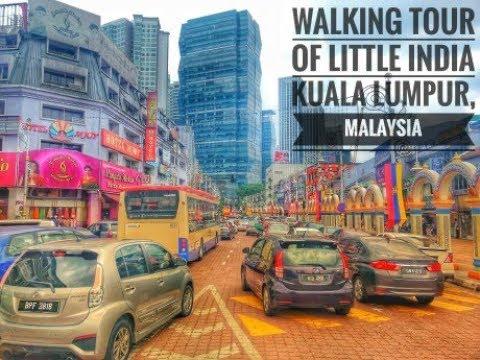Walking Tour of Little India, Kuala Lumpur, Malaysia.